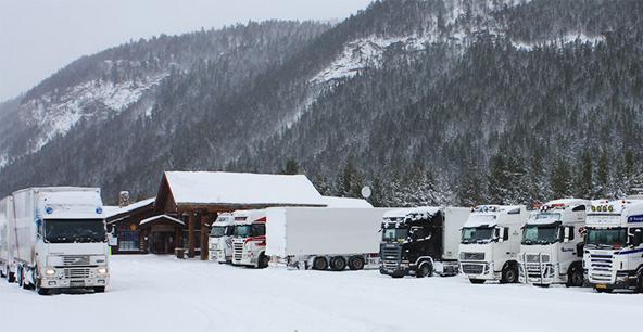 Truckstop - vinter